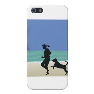 Dog on Beach iPhone SE/5/5s Cover