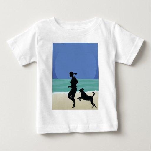 Dog on Beach Tee Shirt