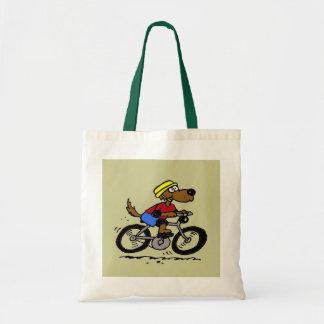 Dog On Bike! Budget Tote Bag