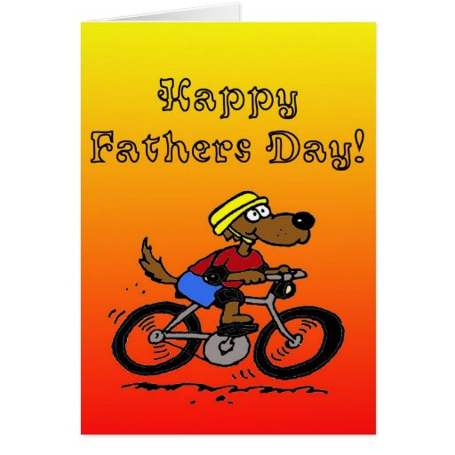 Dog On Bike Card