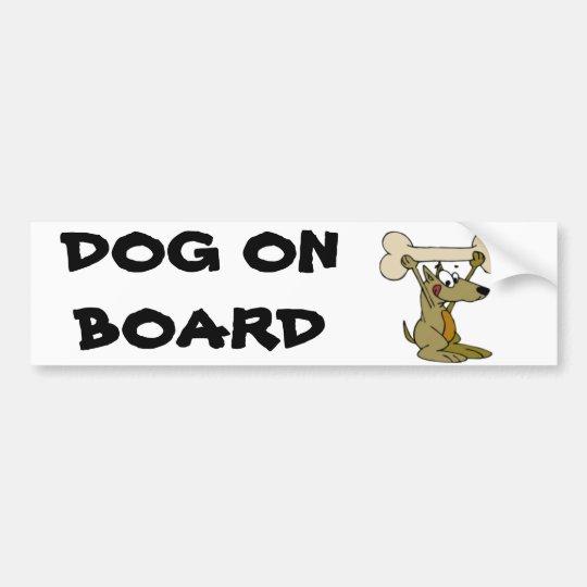 DOG ON BOARD BUMPER STICKER
