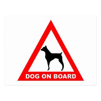 DOG ON BOARD POSTCARD