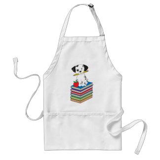 Dog on Books Adult Apron