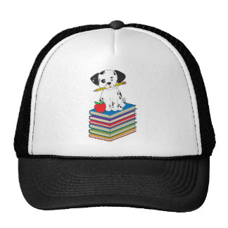 Dog on Books Trucker Hat