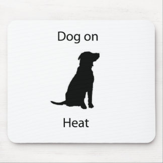 Dog on heat mouse pad