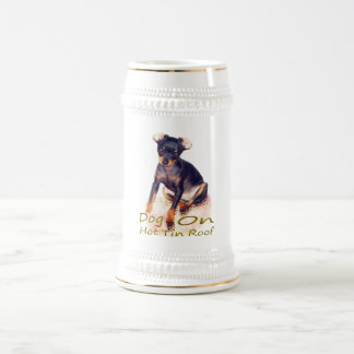dog on hot tin roof beer stein