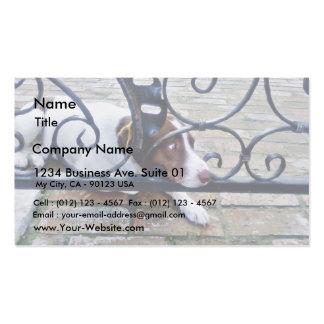 Dog On Iron Hand Work Business Card