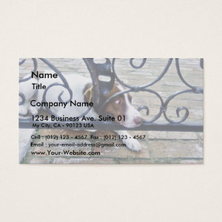 Dog On Iron Hand Work Business Card