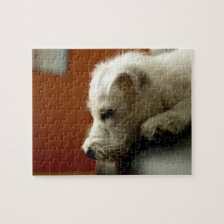 Dog on office chair puzzle