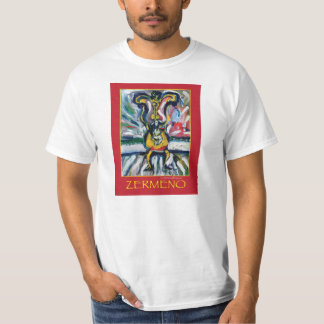 """""""Dog on the 4th of July"""" (Red) by Zermeno T-Shirt"""