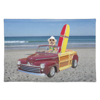 Dog on the Beach American MoJo Placemat