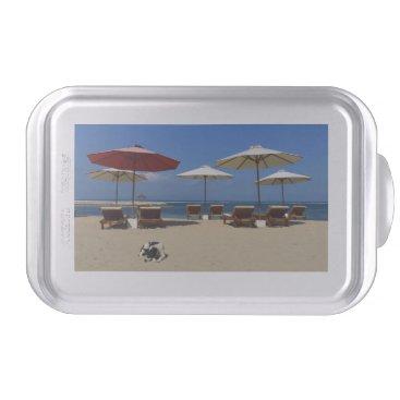 Beach Themed Dog on the beach cake pan