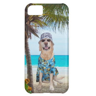 Dog on the Beach iPhone 5C Cases