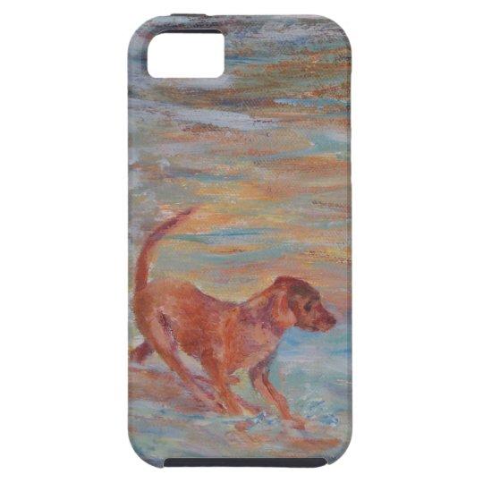 dog on the beach iPhone SE/5/5s case