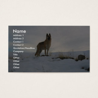 Dog On The Hill Business Card
