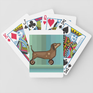 Dog on Wheels Bicycle Playing Cards