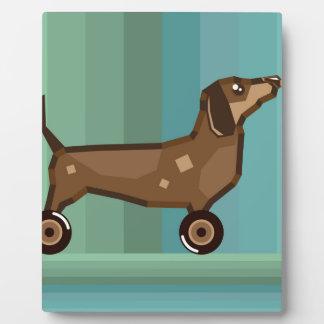 Dog on Wheels Plaque