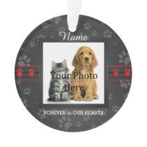 Dog or Cat Custom Poem Memorial Keepsake Ornament