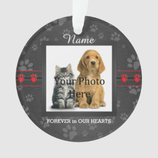 Dog or Cat Custom Poem Memorial Keepsake Ornament