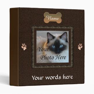 Dog or Cat Dark Brown Memorial Photo Binder