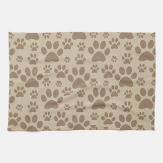 Dog or Cat Paw Prints Kitchen Towel