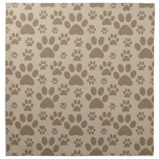 Dog or Cat Paw Prints Napkin