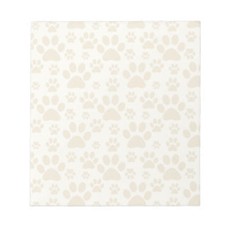 Dog or Cat Paw Prints Notepad