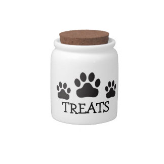 Dog or Cat Paw Treats Candy Dishes
