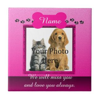 Dog or Cat Pink Monumental Ceramic Tile