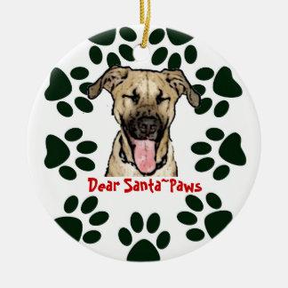 Dog  Ornament  Dear Santa Paws
