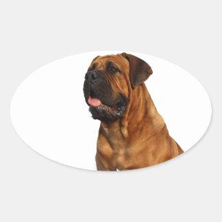 Dog Oval Sticker