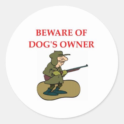 DOG owner Classic Round Sticker