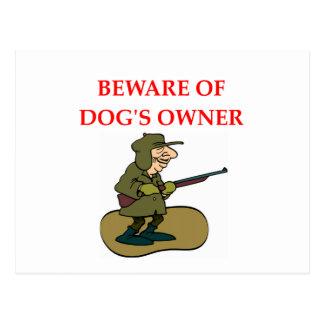 DOG owner Postcard