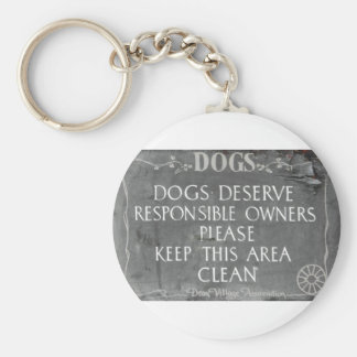 Dog owners sign keychain