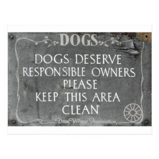Dog owners sign postcard