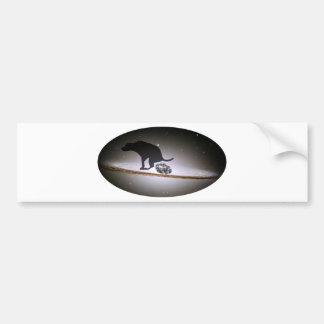 Dog p. over Galaxy Bumper Sticker