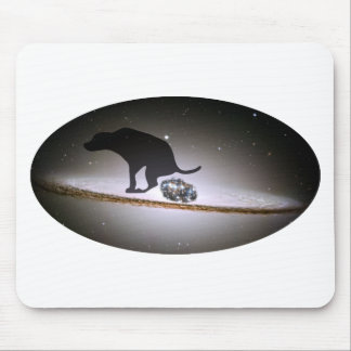 Dog p. over Galaxy Mouse Pad