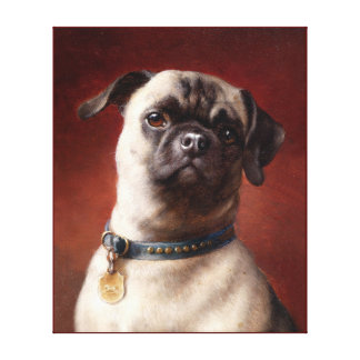 Dog painting 4 gallery wrap canvas