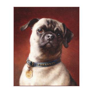 Dog painting 4 canvas print