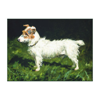 Dog painting 5 stretched canvas prints