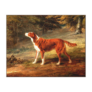 Dog painting 6 stretched canvas print