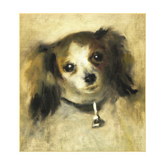 Dog painting 9 stretched canvas print