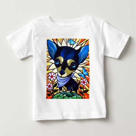 DOG PAINTING ART CHIHUAHUA - MULTI BABY T-Shirt