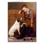 Dog Painting: Best Friends by John Brown Greeting Cards
