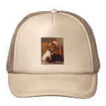 Dog Painting: Best Friends by John Brown Hats