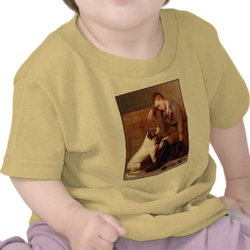 Dog Painting: Best Friends by John Brown T-shirts