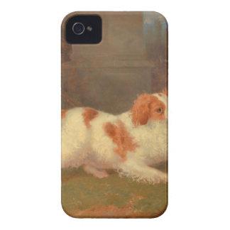 dog painting Blenheim spaniel iPhone 4 Cases