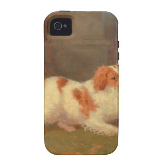 dog painting Blenheim spaniel Case For The iPhone 4
