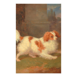 "dog painting Blenheim spaniel 5.5"" X 8.5"" Flyer"