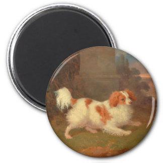 dog painting Blenheim spaniel 2 Inch Round Magnet
